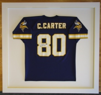 pretty nice 00490 300c2 Custom Framed Vikings Football Jersey - The Great Frame Up ...