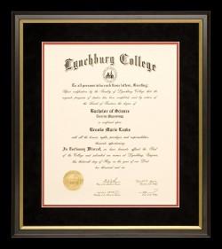Dramatic Lyncburg College Diploma