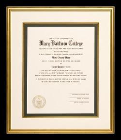 Dramatic Mary Baldwin College Diploma