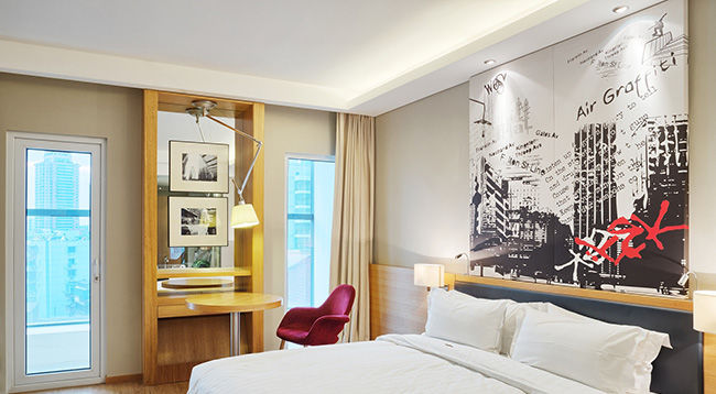 luxury bed room interior and decoration
