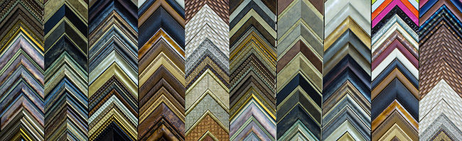 Sample moldings for picture framing. Much like you would find on a wall at a framing store.