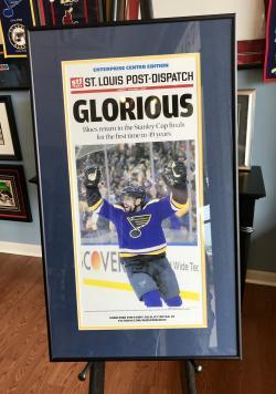 custom framed blues poster