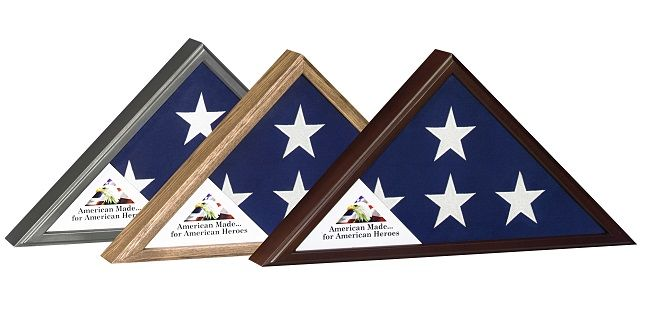 American made flag display cases.