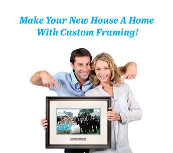 new home, custom framed, art