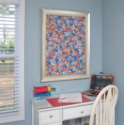 custom framed, workspace, art