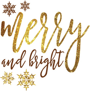 gold glitter merry and bright