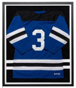 Blue Hockey Jersey Black Frame White Insert