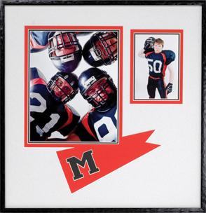 framed football images