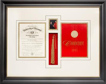 Diploma framed
