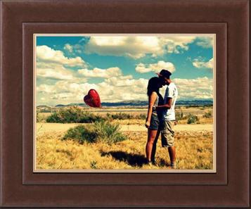 framed heart balloon