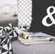 black & white decor