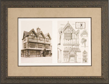 framed architectural plans