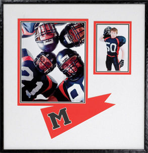 framed football images