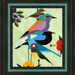needlework birds