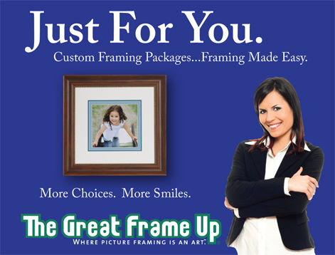 Package pricing flyer for The Great Frame Up