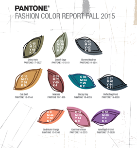Fashion Colour Report Fall 2015