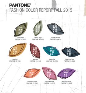 Fashion Colour Report Fall 2015