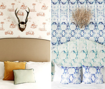 Bedroom Wallpaper Art Sample