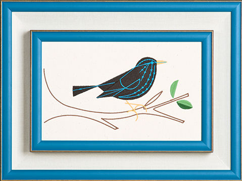Embroidered Art, Art, Decor, Framing