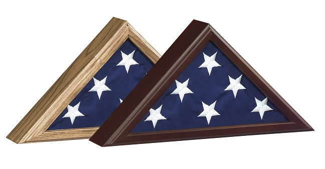 Custom framing, framed flag