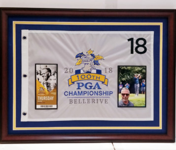 custom framed PGA flag
