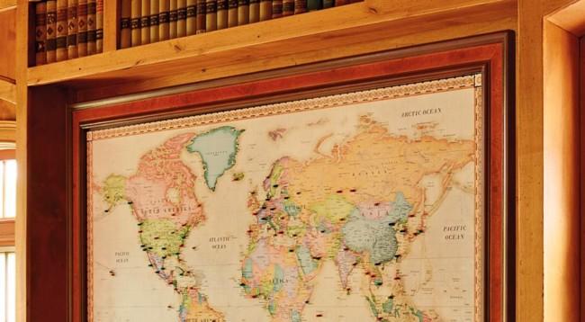 Vintage Map Custom Framing Shop Webster