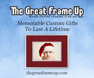 The Great Frame Up marketing winter promo