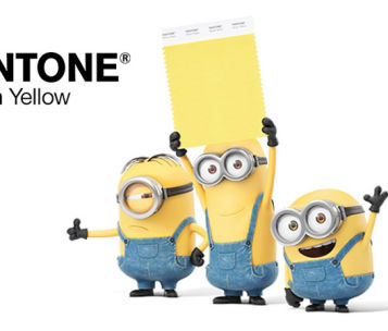 Image from Pantone showing Minions