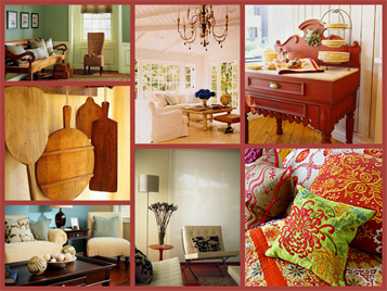 Graphic showing multiple home decor accent styles.