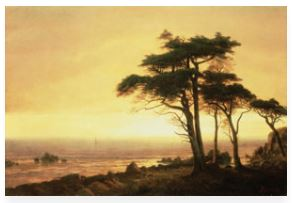 Albert Bierstadt California Coast print