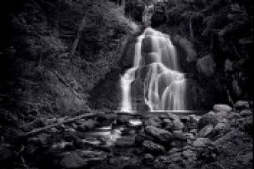 ShopForArt, ShopTheGreatFrameUpArt.com, Art, Custom, Framing, Decor Moss Glen Falls black and white waterfall print