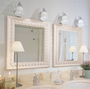 mirrors, framed, bathroom