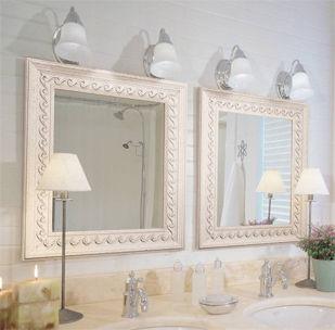 mirrors, framed, bathroom
