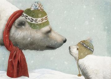 winter, polar bear