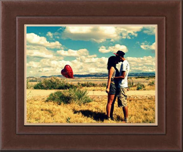 framed heart balloon