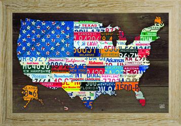 USA wooden Frame