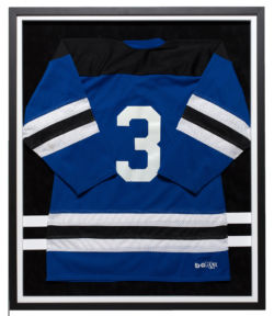 Blue Hockey Jersey Black Frame White Insert
