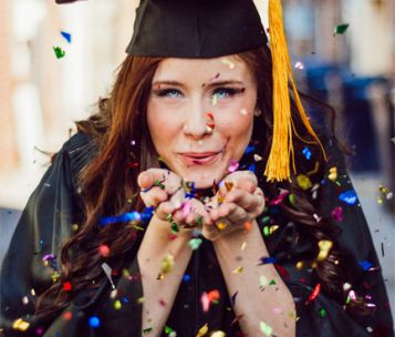 graduation confetti picture