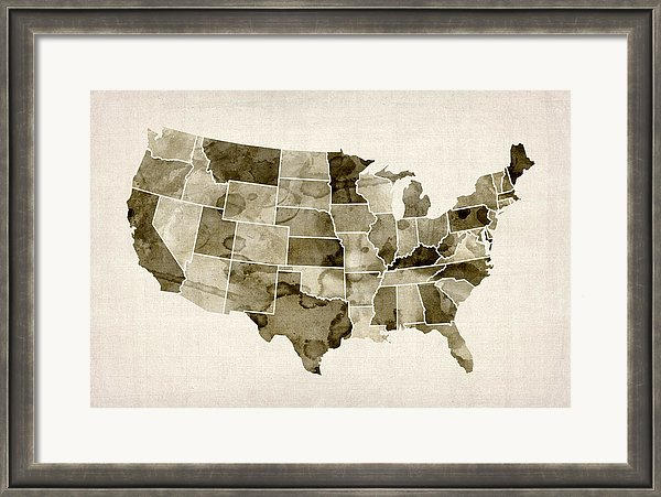 Framed USA Map