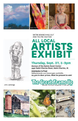 All Local Artists Exhibit Sept. 27