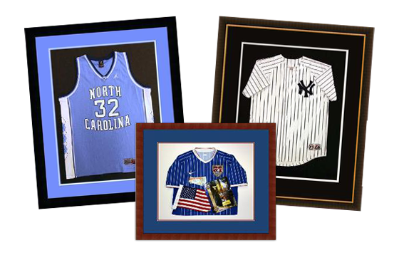 Shadowbox, Football, Baseball, Soccer, Sports, Custom, Framing